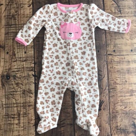 1774f572f3 Baby Girl Carter's Light Pink Cat Footie Sleeper